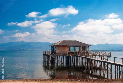 A typical lagoon house of the doiranii area Greece - 62381537