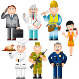 Set of People of various professions (occupations) poster