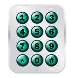Phone Number Key Pad On Semitransparent Panel