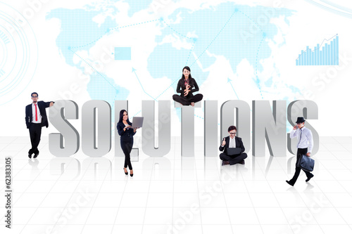 Business global solutions people