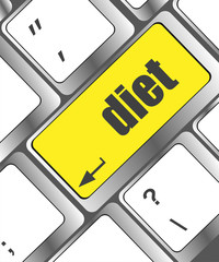 Health diet button on computer pc keyboard