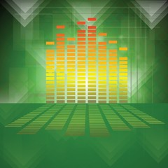equalizer on green background