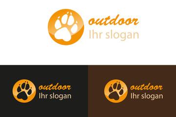 Outdoor Pfote Logo Tatze Visitenkarte