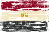 Egyptian grunge flag. Vector illustration