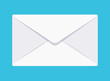 Vector flat envelope icon on blue background.