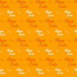 Happy Easter Letter Orange Seamless Background