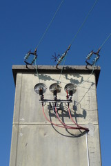 Old cabin of electricity