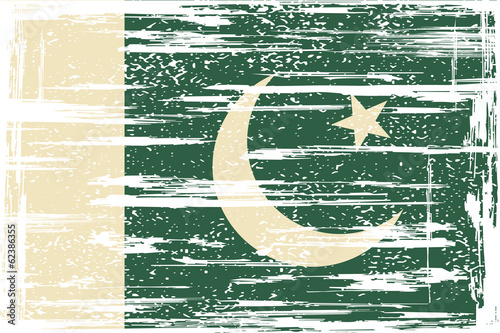 Pakistan grunge flag. Vector illustration