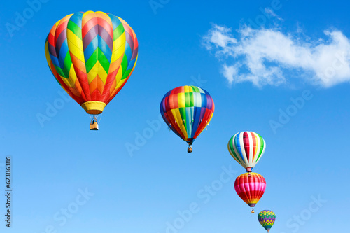 Leinwandbild Motiv Colorful hot air balloons