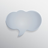 Glass Speech Bubble