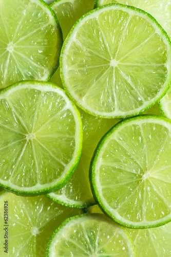 Lime slices background.