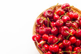 Ripe red cherry berries