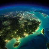 Night Earth. Eastern China and Taiwan