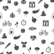 health lifestyle seamless pattern