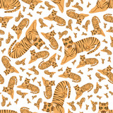 tigers seamless pattern