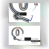 Business card design with letter Q