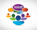friendship communication illustration design