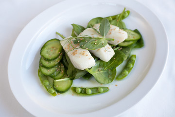 Cod and Green Vegetables
