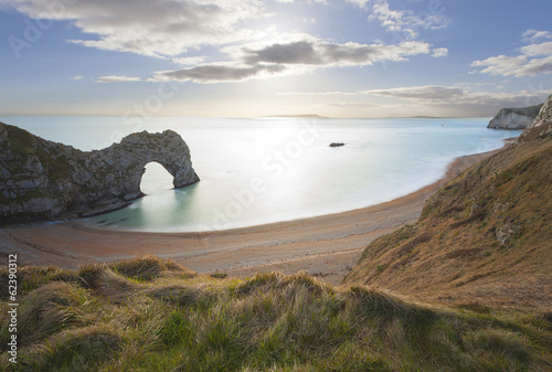 Poster Durdle Door Dorset, Jurassic Coast, UK.