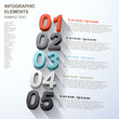 abstract option infographics