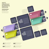 abstract label infographics