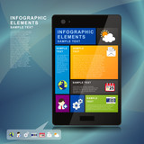 abstract tablet infographics