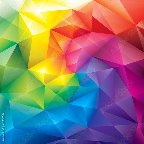 Abstract polygonal gems colors background. - 62390564