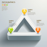 abstract triangle chart infographics