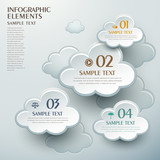 abstract cloud shape infographics