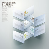 abstract origami infographics