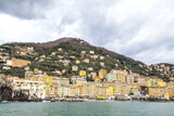 Camogli (Italy): panorama from the sea