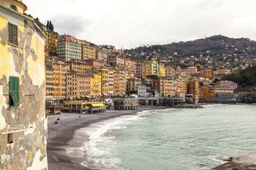 Camogli (Italy): panorama from the sea