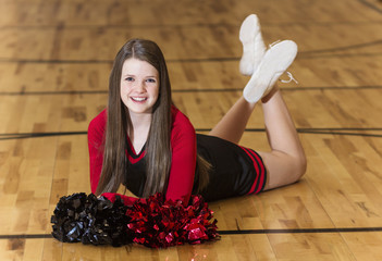 Young Teen Cheerleader Portrait