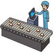 工場で働く男性作業員