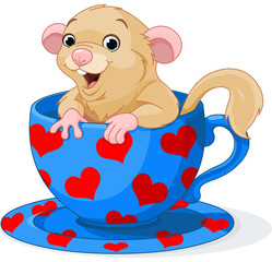 Cute dormouse
