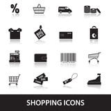 shopping icons eps10