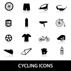 cycling icons eps10