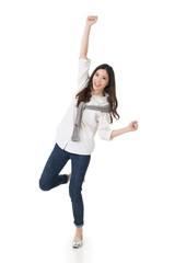 Cheerful Asian woman