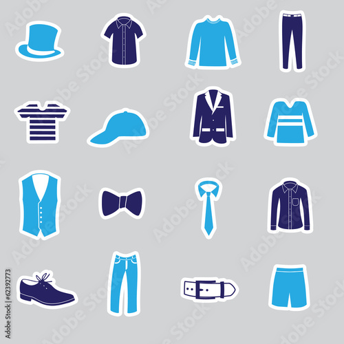 mens clothing stickers eps10