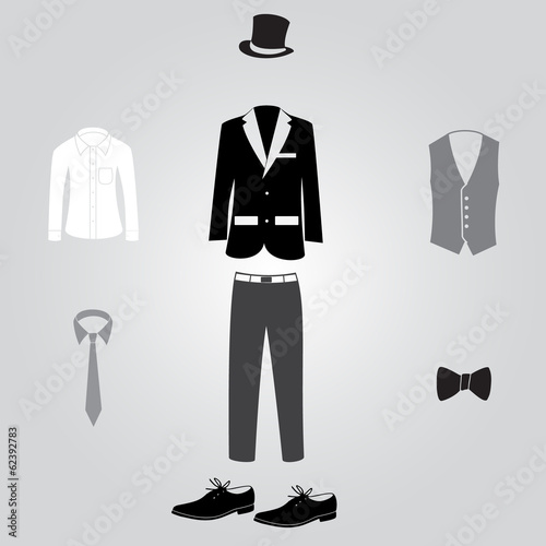 formal suits and clothing eps10