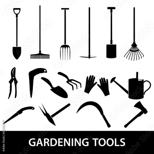 gardening tools icons eps10