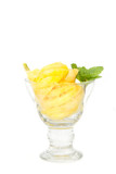 Pineapple slice in the glass