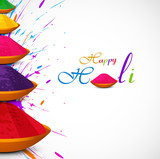 Beautiful card colorful holi gulal presentation celebration fest