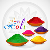 Gulal holi powder colorful celebration card illustration vector