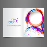 Beautiful greeting card presentation with colorful indian festiv