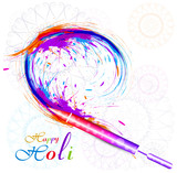 Beautiful holi pichkari colorful festival vector background illu