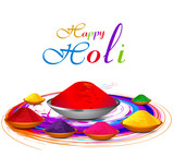 Beautiful gulal colorful holi with festival celebration vector b