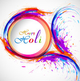 Beautiful card holi festival celebration colorful background