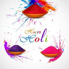 Gulal holi powder in colorful festival celebration beautiful vec