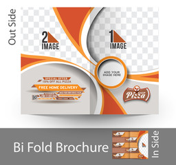 Pizza Shop Bi-Fold Mock up & Brochure Design